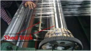 shed stick for weaving wire mesh